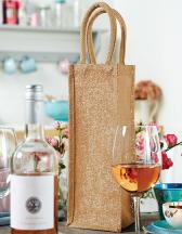 Shimmer Jute Bottle Bag